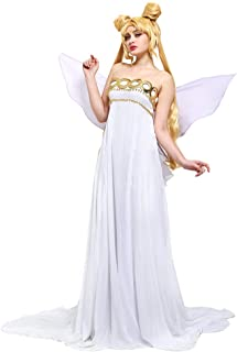 Cosplay.fm Women's Neo Queen Serenity Cosplay Costume Dress with Wings