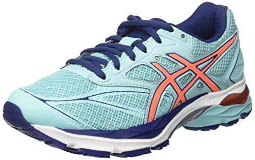 Asics Gel-Pulse 8, Zapatillas De Running para Mujer, Azul (Aqua Splash / Flash Coral / Indigo Blue), 36 EU