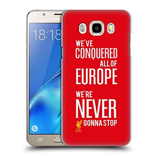 Head Case Designs Oficial Liverpool Football Club Nunca va a parar Reyes de Europa Carcasa rígida Compatible con Samsung Galaxy J5 (2016)