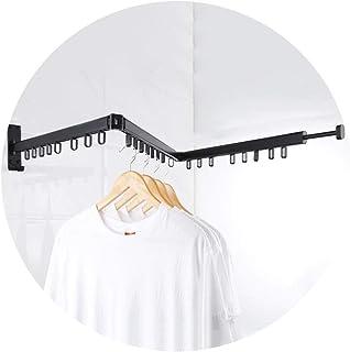 Organiseurs de buanderie Séchoirs à Linge Porte-vêtements Pliant Porte-vêtements Mural Domestique Tringle À Vêtements Téle...