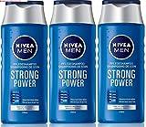 "3 x NIVEA Men Shampoo ""Strong Power"" - für normales"