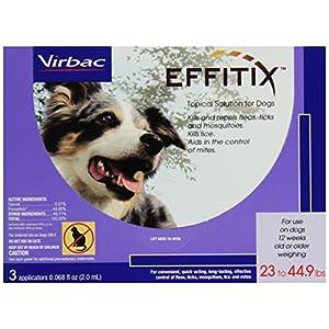 Virbac Effitix Flea/Tick Topical Solution, Medium Dog, 3 Count