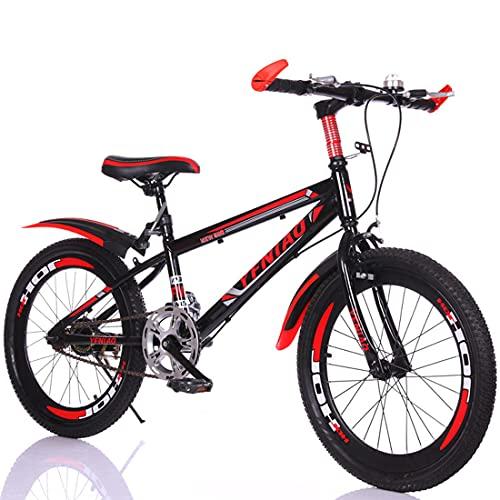"""Bicicleta De Montaña Para Niños De Una Velocidad Con Soporte Y Guardabarros, Bicicletas Para Niños De 18 '20' 22' Para Niños, Niñas, Deportes, Ciclismo Al Aire Libre Para Niños De 6 A 13 Años,18"""""""