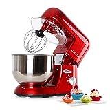 Klarstein Bella Rosa - Robot de cuisine , Mélangeur , Pétrin , Puissance max. 1200 W , Vitesse réglable à 6 niveaux , Bol en...