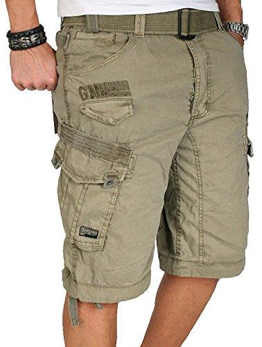 Geographical Norway Herren Cargo Short Sommer Bermuda Kurze Hose Shorts [GN - People - Mastic - Gr.XL]