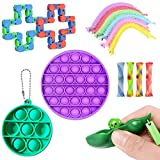 Tobheo 15pcs Sensory Fidget Toys, Stress-Relief Anxiety Toy for Childrens and Adults
