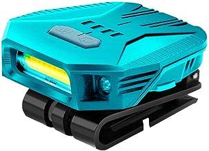 Doherty Hoofdzaklamp, bewegingssensor waterdichte LED-koplamp, afneembare super heldere COB-koplamp met hoofdband en USB-k...