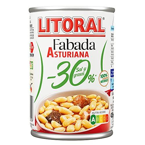 LITORAL Plato Preparado de Fabada -30%, Sin Gluten, 435g