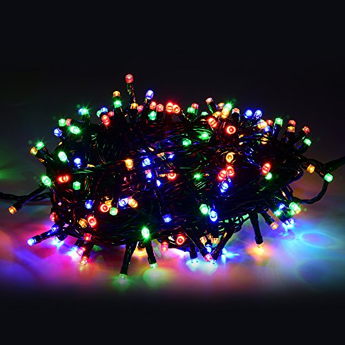 Annefly String Lights, 30M 200LED Waterproof Fairy String Lights Long LED Outdoor Garden Lights Christmas Lights Lighting 8 Operation Modes for Patio Party Yard Tree - Multicolour