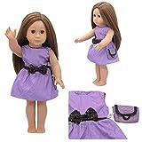 FairOnly Puppenanzug Kleid + Tasche für 18-Zoll-Mädchen Puppe