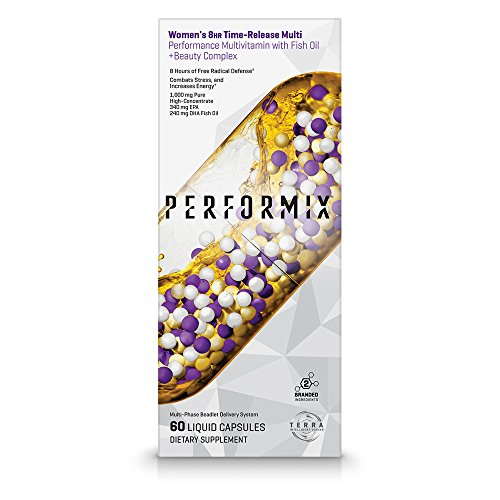 Performix Womens Multivitamin with Omega Fish Oil, Biotin, Collagen, Primrose, Vitamins, Minerals, 60 Count