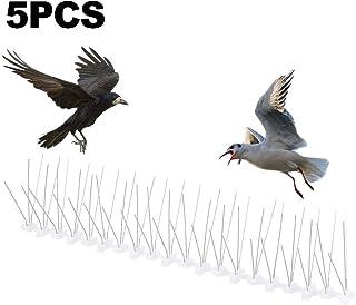 tropicalboy Unknown Pinchos Sistema Pájaros de Acero Inoxidable Púas Antipalomas con Base de Policarbonato para de Aves y Palomas, 20M