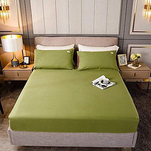 Sábana ajustable 100% poliéster Sábana ajustable para colchón con estampado de plantas Cuatro esquinas con sábana de banda elástica,cama individual doble queen king king size-14_200X200cmX25(1pcs)