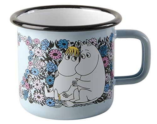 Muurla - Moomin - Tasse, Henkelbecher, Kindertasse - Emaille - Motiv: Sweetheart - 370 ml