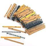 Kit de Surtido de Resistores,Xiuyer 1460 Piezas 73 Valores Conjunto de Resistore de Película Metálica 1ohm-1Mohm 1% Tolerancia Componentes Electrónicos Set para Bricolaje y Experimentos