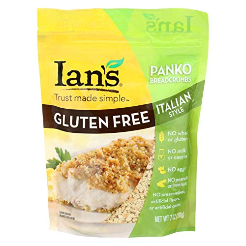 Ians Natural Foods Bread Crumbs - Panko - Italian Style - Gluten Free - 7 oz - case of 8 - Gluten Free - Dairy Free - Wheat Free