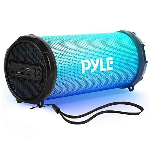 Pyle PBMSPRG3 - Altavoz inalámbrico portátil con Bluetooth Boombox Recargable de 100 W, Sistema estéreo portátil con Entrada AUX, Puerto MP3/USB/SD, Radio FM, Tweeter de 2 Pulgadas