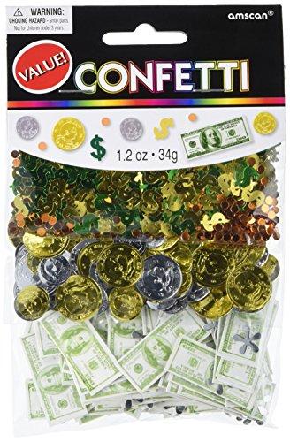 Amscan Money Money Confetti Mixes, 1.2 oz.