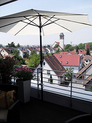 2 x 40 mm ACIER INOXYDABLE Support de parasol pour 25,5 jusqu'à 42 mm Ø – 2 pièce de distance soleil Support de parasol pour balcon pour extérieur ou intérieur Fixation avec 6 + 11 cm Distance Porte-parapluie – Holly breveté – pour fixation au ronde ou eckigen Éléments jusqu'à 40 mm avec l'inox Support pivotant à 360 ° avec capuchons de protection en caoutchouc pour kratzfreien Fixation – Support pivotant à 360 ° – Distance Avec Prises de parasol pour de 25,5 jusqu'à Ø 42 mm avec enregistrement 13 cm 15,24 x Douille