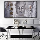 QWESFX Lord Buddha Gold Abstract Canvas Painting Cat Paintings On Canvas Paintings Set Stretched Canvas For Paintings For Bedrooms(Print No Frame) A2 40x80CM