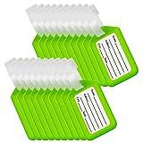 BlueCosto 20 Stück Kofferanhänger Gepäckanhänger für Koffer Luggage Tags - Grün