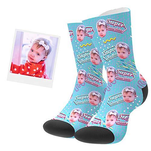 VEELU Calcetines Personalizados Foto Calcetín Original Dibujos Estampados Alto Regalo Esperical para Hombre o Mujer