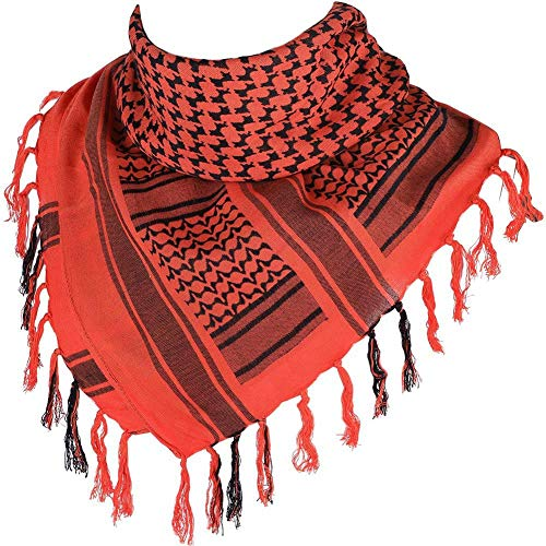 """Arabic Tactical Scarf Desert Shemagh Style Keffiyeh Military Neck Scarf 43"""" x 43"""" - 100% Cotton"""