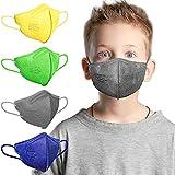 AHOTOP FFP2 Masken | Masken Mundschutz | FFP2 Maske Bunt Kleine Größe | FFP2 Maske CE Zertifiziert | FFP2 maske Farbig | FFP2 Maske Blau Grau Grün Gelb | Gesichtsmaske Mund Nasen Schutzmaske 20 Stück