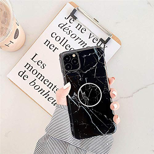 Caja de teléfono móvil a prueba de caídas Soporte de mármol para iPhone 12 Mini 11 Pro X Xr Xs Max 7 8 6 6S Plus Se 2020 caso silicona suave Tpu contraportada