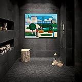Liuqidong Cuadro de Arte de Pared Tarsila Do Amaral Paulo HD Canvas Print Paintings Wall Art Pictures 60x90cm