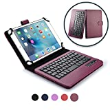 Cooper Infinite Executive Keyboard Case for 7-8' Tablets | 2-in-1 Bluetooth Wireless Keyboard & Leather Folio Cover,...