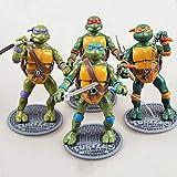 LU-DOLL 4-Pack De Teenage Mutant Ninja Turtle Juguetes - Tortugas...