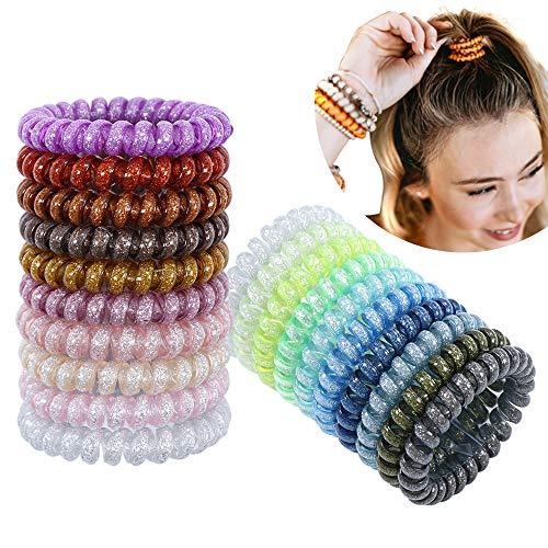 20pcs lazos de pelo en espiral lazos del pelo del cable del...