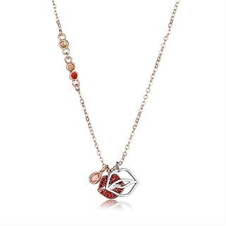 SilberDream Rouge /à l/èvres Pendentif pour Bracelet cha/îne en argent sterling 925/boucles doreilles FC3024