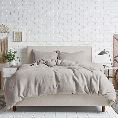Simple&Opulence Set copripiumino in 100% Lino,Puro Lino Copripiumino 260x220cm con una federa da 50 x 75 cm