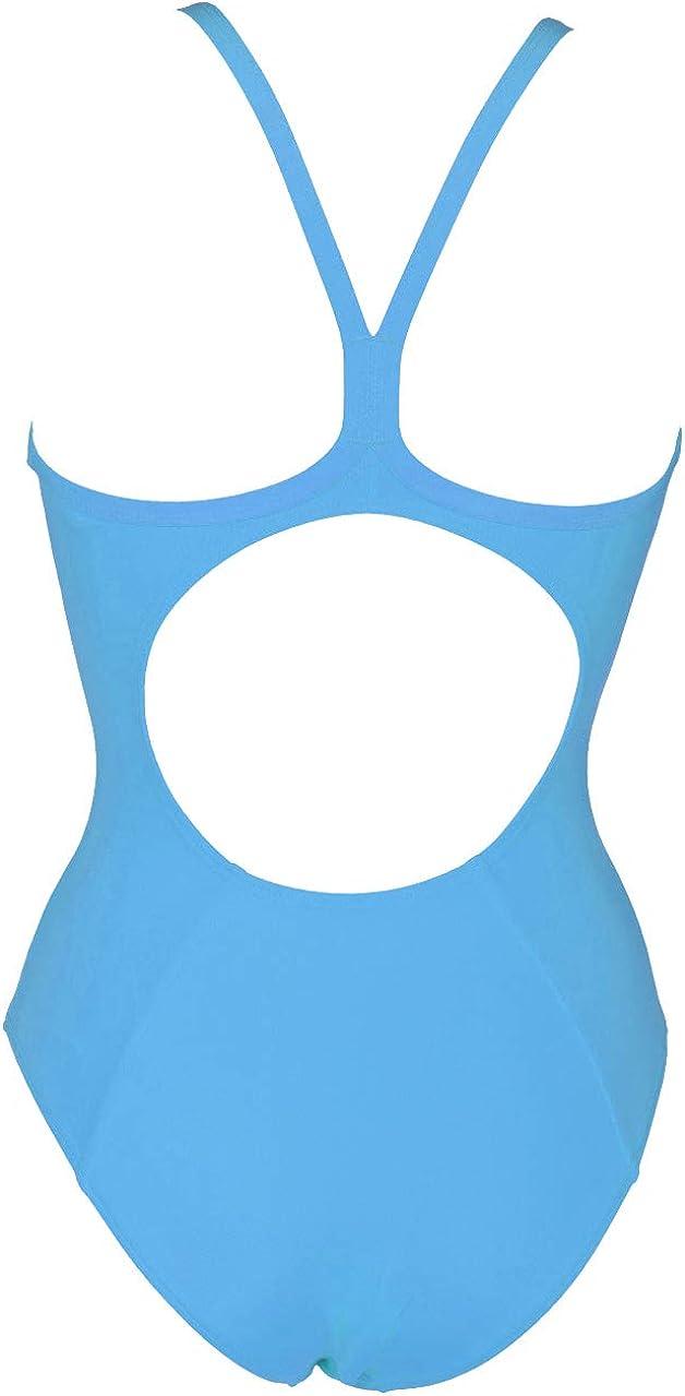 Arena Women's Master Light Drop Back MaxLife One Piece Swimsuit Turquoise - White