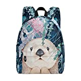 Sea Otter Jelly Fish Marine Realistic Backpack Book Bag