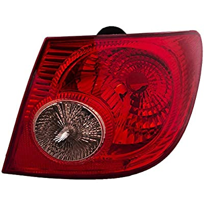 Epic Lighting OE Fitment Replacement Rear Brake Tail Light Assembly Compatible with 2004-2008 Corolla [ TO2801154 8156102290 ] Right Passenger Side RH