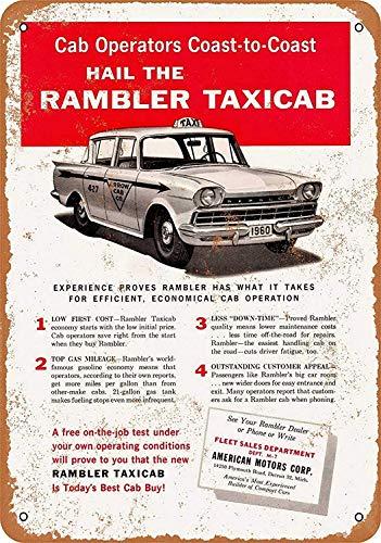 Rambler Taxi Cab Maseratl metalen teken poster wandbord metalen borden vintage waarschuwingsbord retro schilden blikken decoratieve bar Pub Cafe