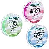 Balzer Platinum Royal Trout Schnur - 150m monofile Angelschnur, Durchmesser/Tragkraft:0.25mm / 7.0kg, Farbe:Chartreuse