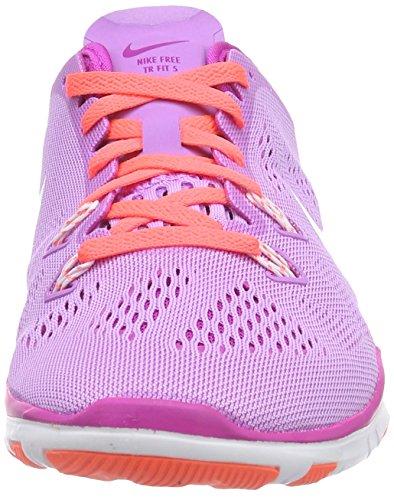 Nike Free TR 5 Breathe, Zapatillas de Interior. Mujer, Morado (FCHS GLW/White-FCHS Flsh-HT LV 500), 36.5 EU