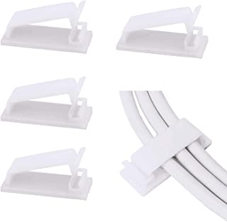 SOULWIT® 50-Pcs Self Adhesive Cable Management Clips, Cable Organizers Wire Clips Cord Holder for TV PC Laptop Ethernet Ca...