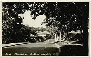Ancon Boulevard Balboa Heights, Panama Original Vintage Postcard