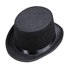 Does your child dress up as a gentleman, wizard or just need a great accessory for the disguise? Then this item from Widmann is just the right thing Included in the box contents is the children's cylinder hat in black The felt hat with curved brim ha...