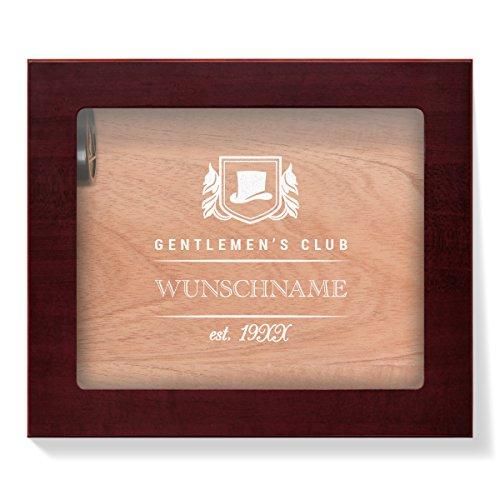 Angelo Humidor mit Glasdeckel individuelle Gravur für 25 Zigarren - Gentlemen's Club