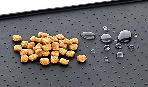 Tiernahrung Wasserdichten Silikon-Anti-Rutsch-Matte Schalen Matte Schalen Matte PET Hund Katze Futternapf Matte Schalen Matte mit einer Grenze eignet sich auch als Führungspolster (L, Schwarz) - 4