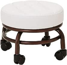 Pedicure Chair Foot Stool Beauty Salon Foot Bath Footstool Spa Chairs Two Colors Optional Elitzia ET28499 (White)