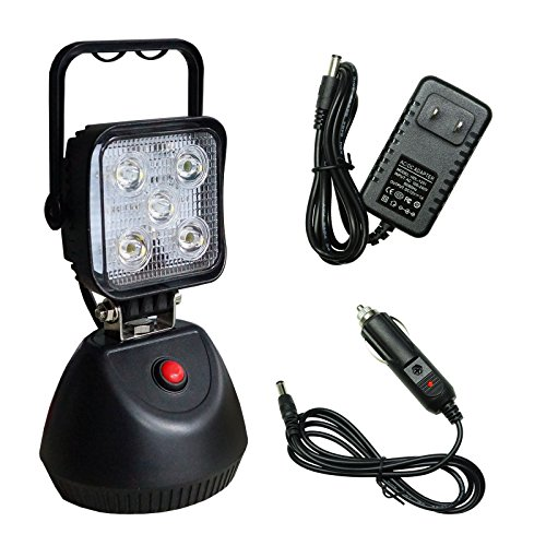 PA 1x 15W 1800lm Rechargeable Magnetic LED Flood Industrial Spot Light for Outdoor Lighting SUV Off-Road Trucks Boats Jeep Tractor Garage, Camping Light