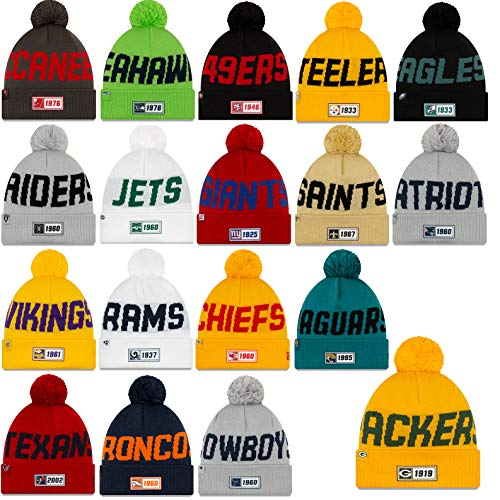 NFL Beanie New Era Sideline muts bommel American Football Road 2019/2020 Winter