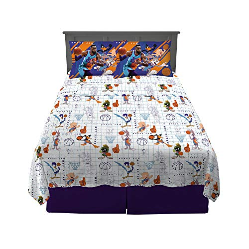 Franco Kids Bedding Super Soft Microfiber Sheet Set, 4 Piece Full Size, Space Jam 2 A New Legacy